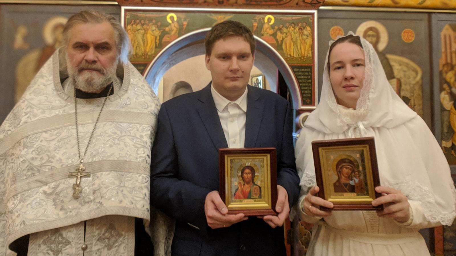 Венчание Владислава Бычкова и Елизаветы Кутузовой