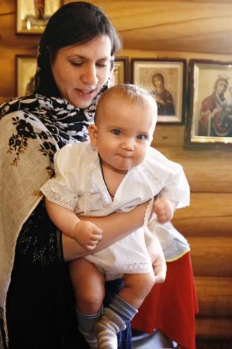 Крещение Александра Катышева
