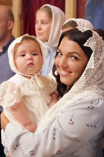 Крещение Анны Серебряковой и Глеба Блинова
