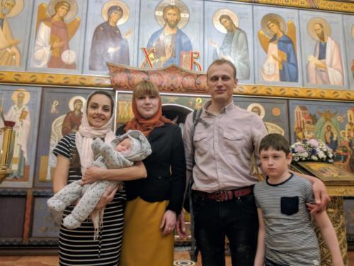 Крещение младенца Артема Куликова