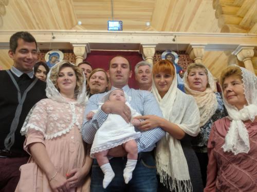 Крещение младенца Максима Русинова